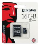 KARTA PAMIĘCI MICRO SD 16GB  ADAPTER KINGSTON CLASS 10