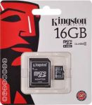KARTA PAMIĘCI MICRO SD 16GB  ADAPTER KINGSTON CANVAS SELECT CL. 10 UHS-1